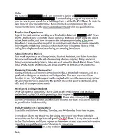 Craft the Quickest, Simplest, and Most Effective Cover Letter ~ Hollywood Intern Diaries