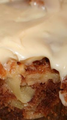German Apple Cake with Cream Cheese Frosting | Seriously, a homemade cake is almost as easy to make as a store-bought mix!