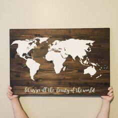 World map pallet world wood sign explore world by createdesignlive world map pallet world wood sign explore world by createdesignlive signs pinterest wood signs pallets and map america gumiabroncs Image collections