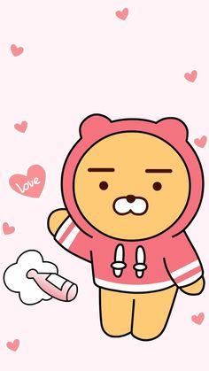Cute Wallpapers, Wallpaper Backgrounds, Iphone Wallpaper, Bear Wallpaper, Kawaii Wallpaper, Ryan Bear, Cute Lockscreens, Cute Food Drawings, Kakao Friends