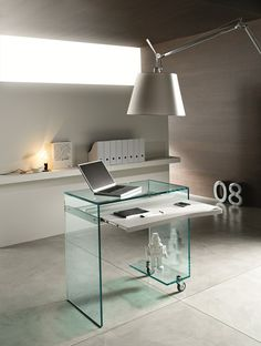 PC #glass writing #desk WORK BOX by Tonelli Design | #design Marco Gaudenzi @Tonelli Design