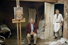 Lucian Freud paints David Hockney.