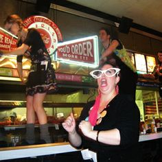 Ed Debevic's, Chicago, IL   Diner food and a show!!