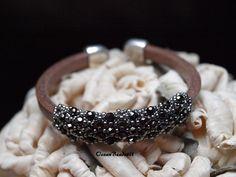 Regaliz Leather Bracelet/ Leather Bracelet/ Armband by OceanBeads4U on Etsy