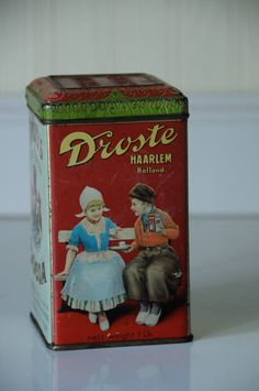 Droste's Cocoa Tin Haarlem Holland Droste's Dutch by PageScrappers, $17.99