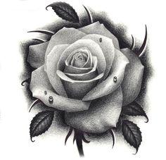 pink tattoo - New Tattoo Models Rose Drawing Tattoo, Tattoo Sketches, Rose Drawings, Design Tattoo, Flower Tattoo Designs, Rosen Tattoos Schulter, Trendy Tattoos, New Tattoos, Rose Zeichnung Tattoo