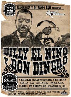 Sábado 22 de marzo, sala La Cloaka,Málaga: -Billy El Niño y Don Dinero
