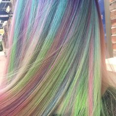Sand Art Rainbow Hair Color | POPSUGAR Beauty http://www.popsugar.com/beauty/Sand-Art-Rainbow-Hair-Color