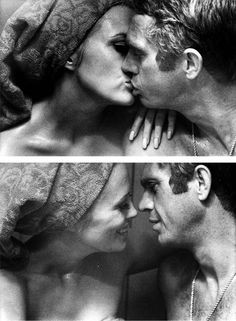 FAYE DUNNAWAY AND STEVE MCQUEEN