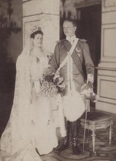 Wedding image of Duchess Maria Isabella of Wurttemberg and Prince Johann Georg of  Saxony. 1894.