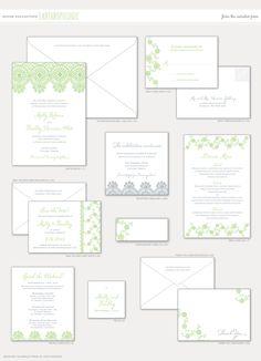 Aerialist Press // Anthropologie Letterpress Wedding Invitation // Chic, Stylish Invitations