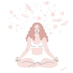 accidentally quit meditation for weeks, resulting stress and anxiety, must start again right now. Yoga Illustration, Digital Illustration, Cute Wallpapers, Wallpaper Backgrounds, Zen Meditation, Yoga Art, Wall Collage, Art Day, Lovers Art
