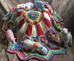 Carousel CAL! Pattern can be found on the Stylecraft Webpage (Free) Crochet Squares, Crochet Blanket Patterns, Baby Blanket Crochet, Crochet Afghans, Crochet Dolls, Crochet Yarn, Crochet Stitches, Crochet Crafts, Pokemon