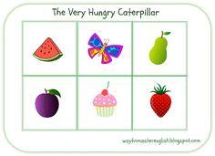 English is Fun: The Very Hungry Caterpillar English Fun, Very Hungry Caterpillar, Stuff To Do, Fun Stuff, Eric Carle, Bingo, Games, Food, Fun Things