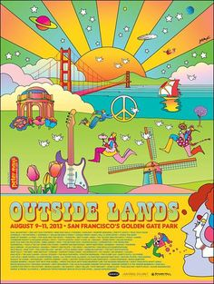 Peter Max's Psychedelic, San Francisco-Inspired Poster for 2013 Outside Lands