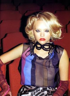 The Play's The Thing  - Photographer: Terry Richardson Vogue UK, April 2008 Model: Gemma Ward