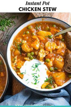 Chicken Curry Stew, Brown Stew Chicken, Stew Chicken Recipe, Best Chicken Stew, Instant Pot Beef Stew Recipe, Best Instant Pot Recipe, Chicken Meals, Best Soup Recipes, Easy Meat Recipes