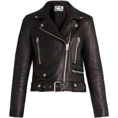 Acne Studios Mock leather biker jacket (£1,210) ❤ liked on Polyvore featuring outerwear, jackets, coats, coats & jackets, black, leather moto jacket, zipper jacket, leather rider jacket, studded motorcycle jacket and buckle leather jacket