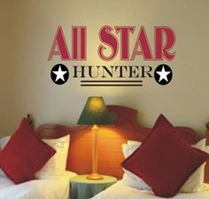 All Star Vinyl Wall Decal...so cute for a vintage baseball theme room!