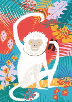 how to draw a smirk Monkey Illustration, Digital Illustration, Monkey Art, Illustrations And Posters, Animal Illustrations, Mundo Animal, Pattern Art, Illustrators, Art For Kids