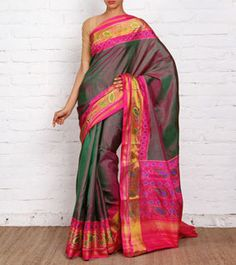 Pink Shaded Pure Silk Patola Saree