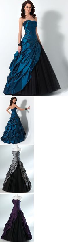 Floor-Length Strapless Sashes Prom Dresses