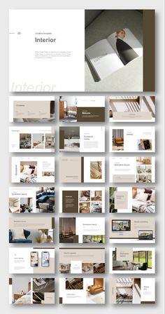 Interior Presentation, Corporate Presentation, Presentation Design, Presentation Templates, Portfolio Website Design, Brochure Design Inspiration, Web Design Tutorials, No Photoshop, Grafik Design