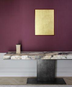 Colour Palette 2018, Color Palettes, Bathroom Table, Joseph Dirand, Paris Apartments, Bathroom Colors, Console Table, Entryway Tables, Wall Lights