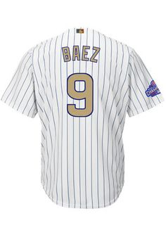 Javier Baez Chicago Cubs Mens Replica Gold Collection Jersey