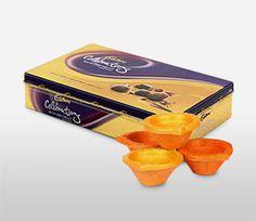 #chocolate with diya