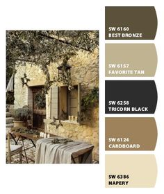 Paint colors from Chip It! by Sherwin-Williams Exterior Paint Schemes, Best Exterior Paint, Exterior Paint Colors For House, Paint Colors For Home, Modern Exterior, Exterior Colors, Paint Colours, Tan House, House Paint Color Combination