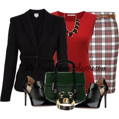 A fashion look from October 2013 featuring red shirt, Armani Collezioni and pencil skirts. Browse and shop related looks. Classy Outfits, Chic Outfits, Beautiful Outfits, Trendy Outfits, Fashion Outfits, Diva Fashion, Work Fashion, Modest Fashion, Fashion Looks