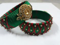 Silk thread bangles For order message in my inbox Silk Thread Bangles Design, Thread Jewellery, Bangles Making, Jewellery Making, Beaded Necklace Patterns, Beaded Jewelry, Diwali, Making Ideas, Clay