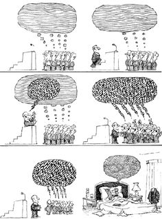 Quino - Gente en su sitio (People in their Place, Medieval Reactions, Ideas Are Bulletproof, Saul Steinberg, Art With Meaning, Where Is My Mind, Political Art, Humor Grafico, Fun Comics, Funny Art