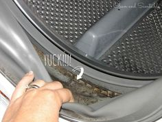Great tutorial on how to clean your washing machine and get rid of mold.  A must read!