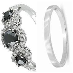 My rings...black diamonds from my black diamond