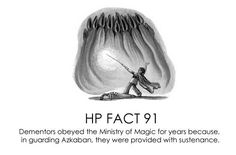 HP facts - Dementors and the Ministry.