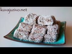 Kokos kocke - Čupavci - Video recept - YouTube