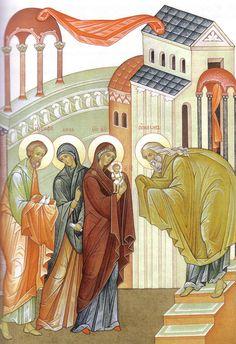 Сретение Господне Religious Icons, Religious Art, Paint Icon, Byzantine Icons, Blessed Virgin Mary, Christian Faith, Mystery, Religion, Presentation