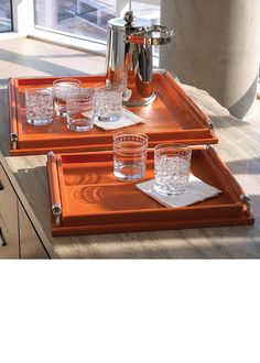 Luxury Christmas Gift Ideas, From Hollywood, From $225 Designer Orange Leather Serving Trays, Drinks Trays, Cocktail Trays, Breakfast Trays, Ottoman Trays, Coffee Table Trays, Over 3,500 Luxury Home Decor inspirations to enjoy, share and inspire your friends and followers, with our easy 1 Click Pinterest Pin Button enjoy happy pinning