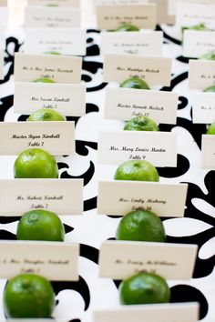 Lime Place Card Holders