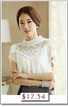 2014 new plus size short sleeve lace women chiffon blouse feminina camisas femininas renda blusas roupas blouses shirts tops-inBlouses & Shirts from Apparel & Accessories on Aliexpress.com | Alibaba Group