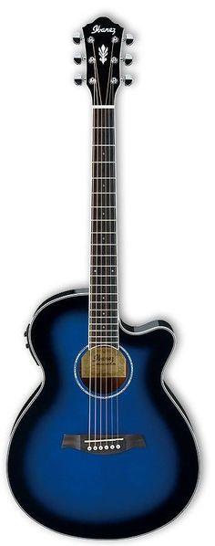 Ibanez AEG10II TBS Acoustic Electric Guitar | Transparent Blue Sunburst