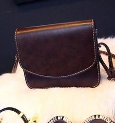 Vintage PU Leather Satchel Clutch Handbag Tote Purse Messenger Shoulder Bag