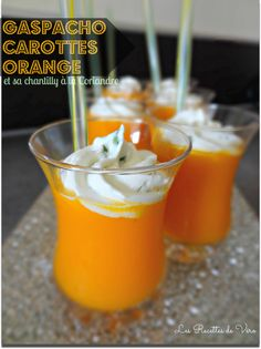 Soupe froide Carottes Oranges Gingembre