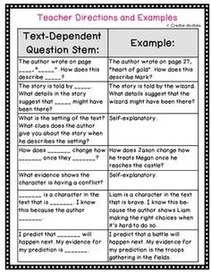 Critical thinking questions stems for comparing