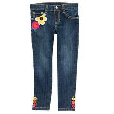 Gymboree Fashionable Fox Girls flower Stretch Jeans pants button 4 5 10 new #Gymboree #stretch #Everyday
