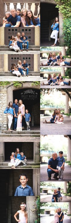 Family Photography - Family Photo Session - Family of 5 - Twins - Urban Location - Las Colinas Canals - Holly Natale Photography - Twins - Family Photo Session - Posing Ideas