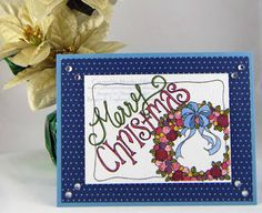 Coffee Pot Stamping Cafe: Christmas Card Challenges #18