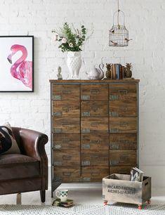 Industrial Home Design, Vintage Industrial Furniture, Industrial Style, Industrial Dresser, Industrial Shelves, Industrial Living, Apothecary Cabinet, Vintage Sideboard, Urban Loft